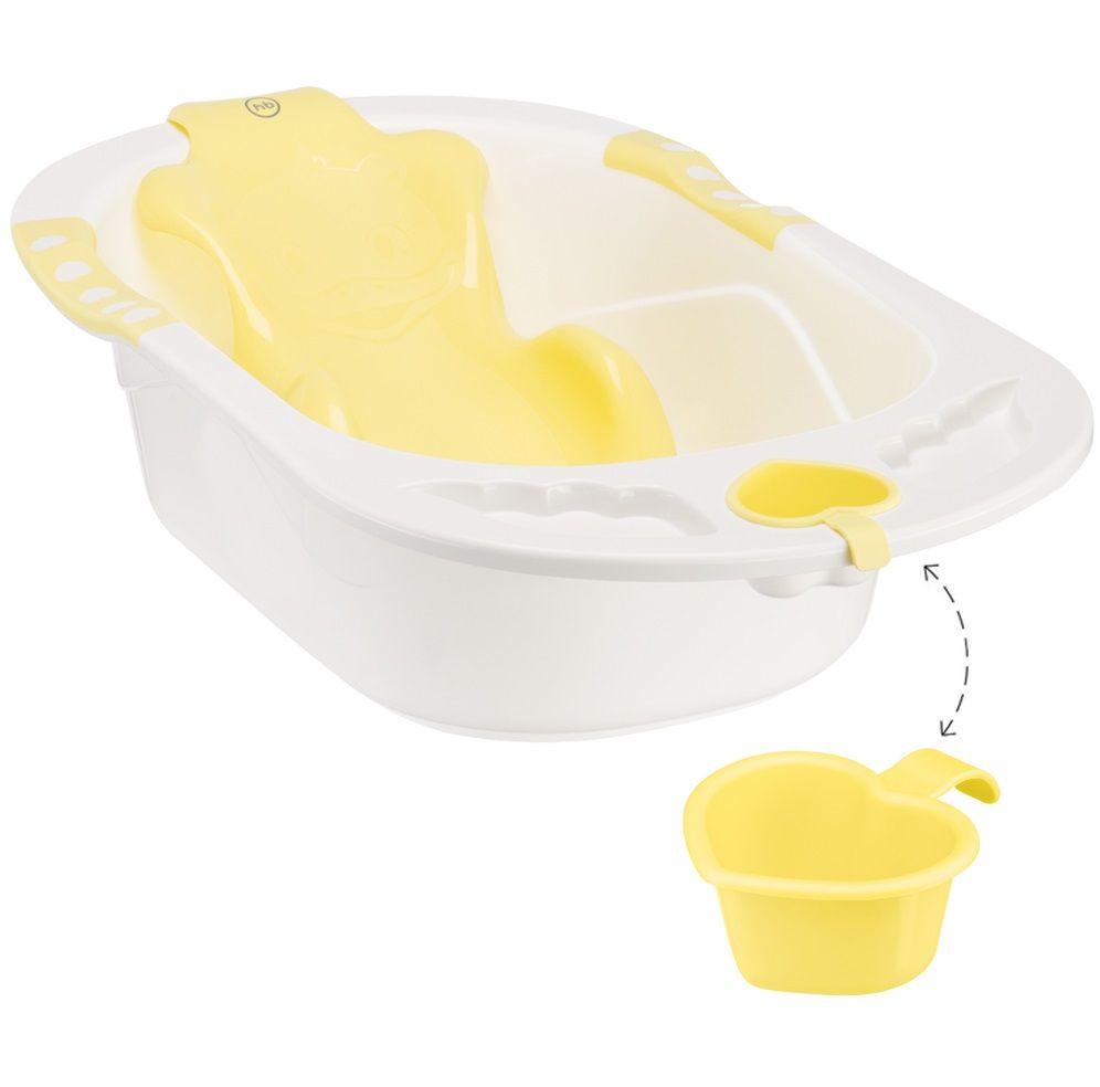 Ванна Happy baby с анатомической горкой Bath comfort Yellow в Караганде